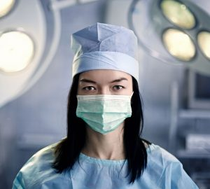 a surgeon in the operating room